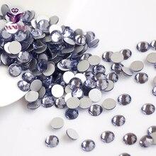 2028NoHF Tanzanite Color Stones All Sizes SS3,4,5,6,8,10,12,16,20,30,34 Non Hotfix Glue on Flatback Rhinestones