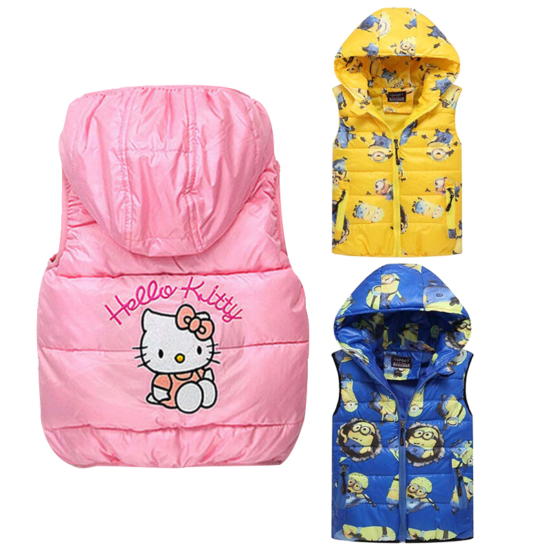Girls Boys Clothes Children Outerwear Clothing Baby Girl Cotton Padded Vest Winter Autumn Kids - Princess and Princes Store store
