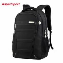 AspenSport Laptop Rucksäcke Männer für 15 17 zoll Computer Schule Taschen Junge Reise Wasserdichte Anti theft Notebook Schwarz