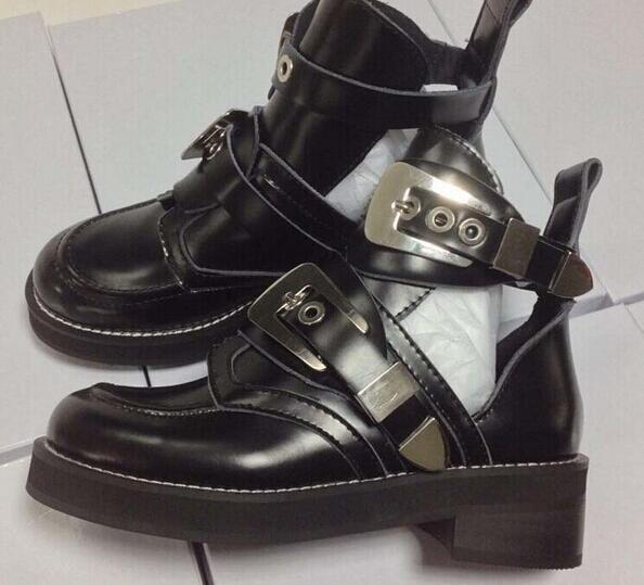 Womanizme gruaja lokomotivë në Paris, çizme, çizme sandale prej - Këpucë për femra - Foto 5