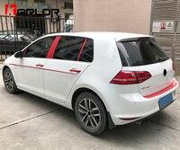 Carbon Fiber Front Rear Grill Bumper Belt Line Door Handle Pillar Car Styling Stickers For Volkswagen
