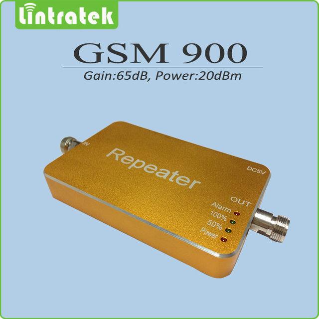 Tamanho Mini preto / amarelo sinal GSM impulsionador 900 Mhz celular amplificador de sinal ganho 65dB GSM 900 Mhz celular repetidor de sinal