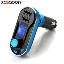 Xcgaoon Автомобильный MP3-плеер с ЖК-дисплей Экран двойной 2 USB Автомобильное Зарядное устройство TF карта Солт fm-передатчик Авто аудио плеер
