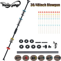 36/48 Inch Outdoor Sports Entertainment Practice Shooting All Aluminum Blowgun Equipped With a Sight and 48 Darts