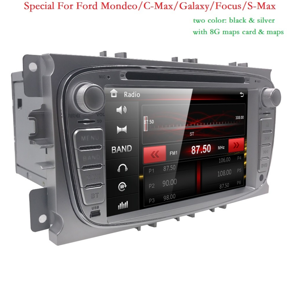 2Din 7 Inch Car DVD for FORD FOCUS 2 MONDEO S-MAX 2008-2011 With WIFI Radio GPS RDS BT 1080P ford car dvd focus