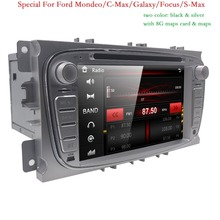 2Din 7 дюймов Автомобильный DVD для Ford Focus 2 Mondeo S-Max 2008-2011 с WI-FI Радио GPS RDS BT 1080 P Форд автомобиль DVD фокус