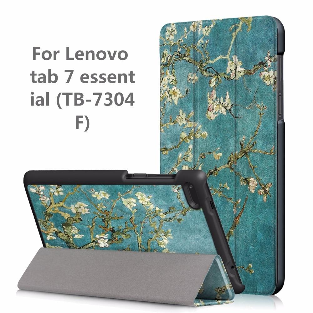 Folio magnetic cover case for Lenovo Tab4 Tab 4 7 Essential TB-7304 TB-7304F TB-7304I TB-7(2017 release) slim printed case+gift