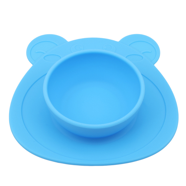 Anti-Slip Silicone Baby Plate