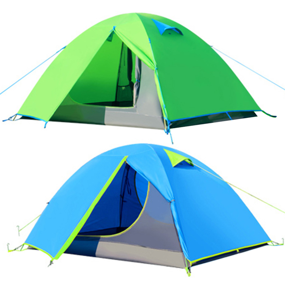 HW2016 NEW arrival New Outdoor Double Layer C&ing Tent 4 Persons 4 Season With Aluminum Rod fre shipping-in Tents from Sports u0026 Entertainment on ...  sc 1 st  AliExpress.com & HW2016 NEW arrival New Outdoor Double Layer Camping Tent 4 Persons ...