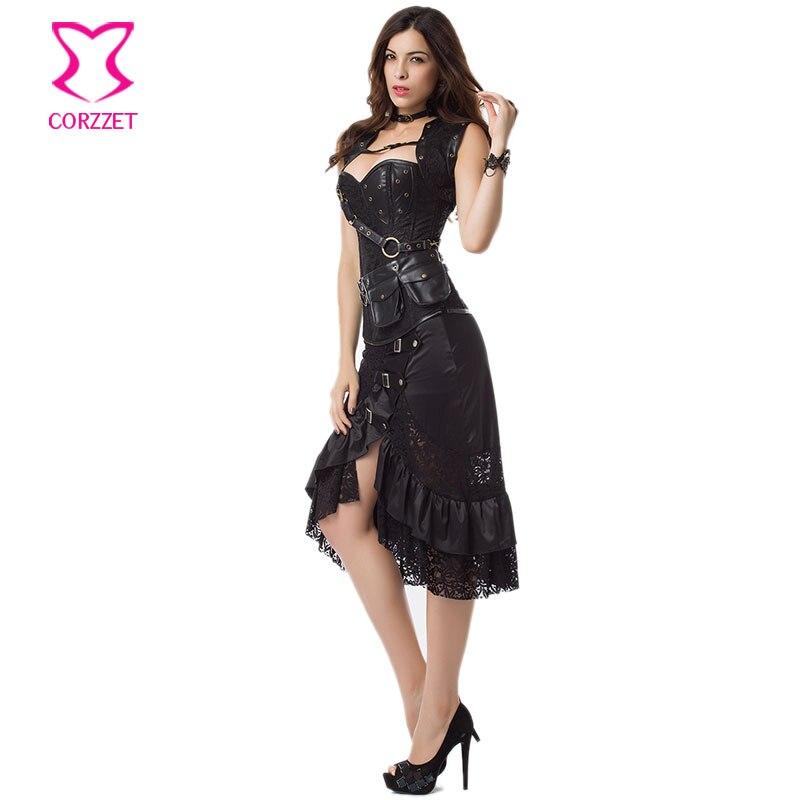Ruffle cilësisë së mirë e zezë dhe pantallona të gjera - Veshje për femra - Foto 4
