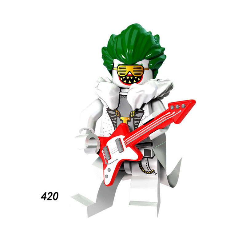 Single Sale Super Heroes Star Wars 420 Singer Joker Music Mini Building Blocks Figure Bricks Toys Gift Compatible Legoed Ninjaed