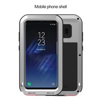 LOVE MEI POWERFUL FOR GALAXY S8 Phone Case Shatterproof Screen Design Phone Case Round Arc Corners Silicone Protective Case