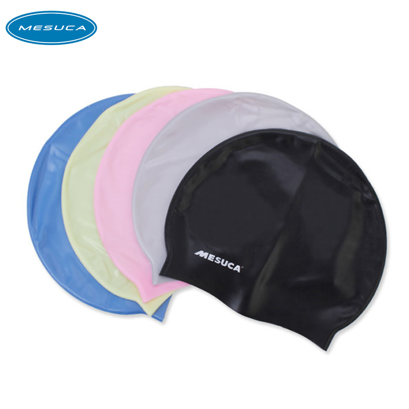 Pure Solid Color Silicone Swimming Cap f