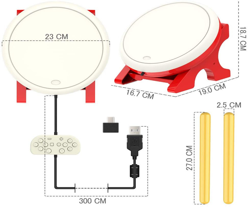 Contrôleur de pilon accessoires de jeu Console contrôleur de jeu vidéo pour Nintendo Switch-tambour contrôleur maître Set bâtons - 3