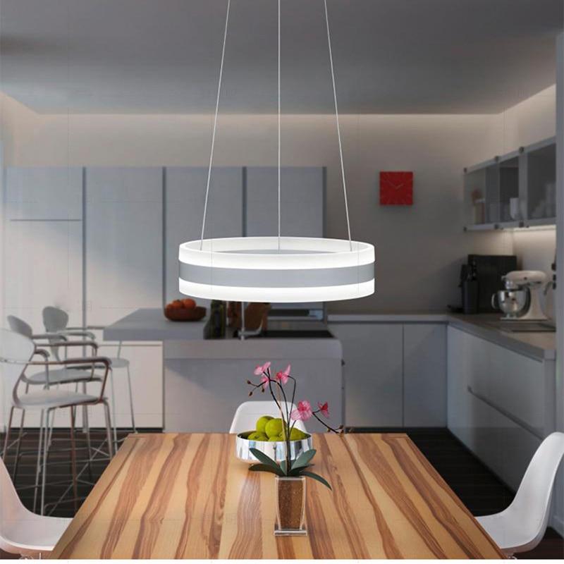 Modern Minimalist Pendant Light For Kitchen Living Room Hanging Round Lamp Circle Led Cord Pendant Light Ring Light Dinning Room