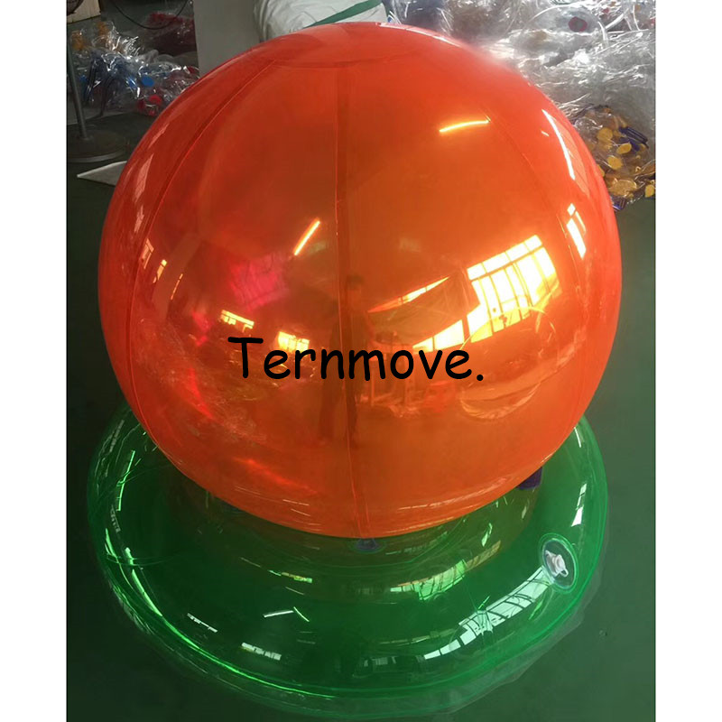 inflatable hanging balloon for Concert party decoration/exhibition/events show Window decoration orange pvc ball - 3