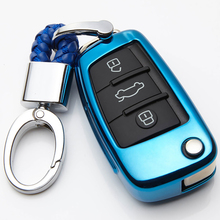 KUKAKEY TPU Car Key Cover Styling Case Cover Fob Shell For Audi TT A5 A8 A7 A4 A4L 8S B9 Q5 A6L Q3 Q7 Car Styling Accessories car styling accessories for audi a6l q5l a3 q3 q5 s3 a4 a4l q7 a5 2018 key bag cover abs decoration protection key case for car