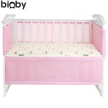 130×70 см Розовый дышащий маленьких воздуха площадку cot бампер сетки Защитная крышка для одежда для малышей Детская безопасность Постельные принадлежности Интимные аксессуары