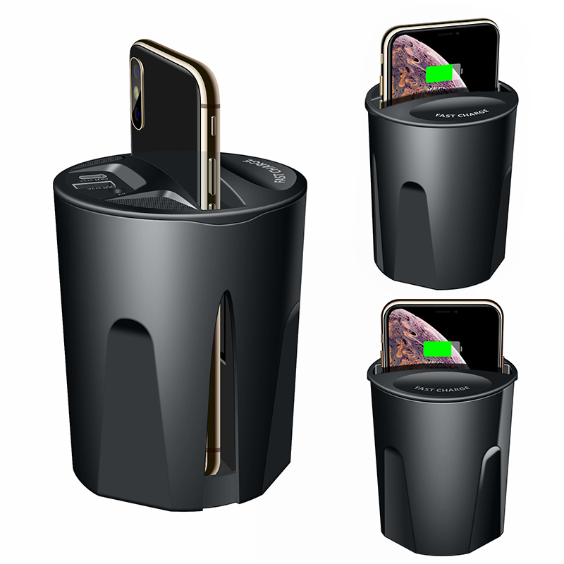 Fast QI Wireless Car Charger For Samsung S10 S9 S8 S7 S6 Edge Note 8 9 iphone 8 X 10 Fast Wireless Charging Cup Car Phone Holder