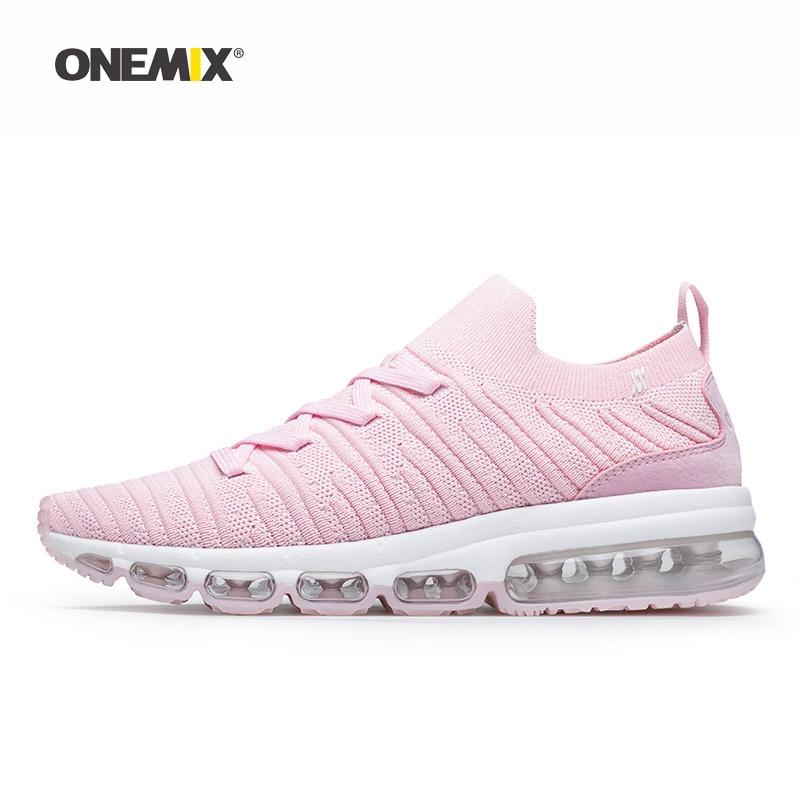 Onemix femme chaussures de course pour femmes Max coussin chaussettes mocassins maille Designer Jogging baskets Sport de plein air Gym marche formateurs