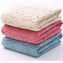 Children Towel Rabbit Cotton Baby Towels Washcloth Bathing Feeding Face Cute Cartoon Childrens Bathrobe