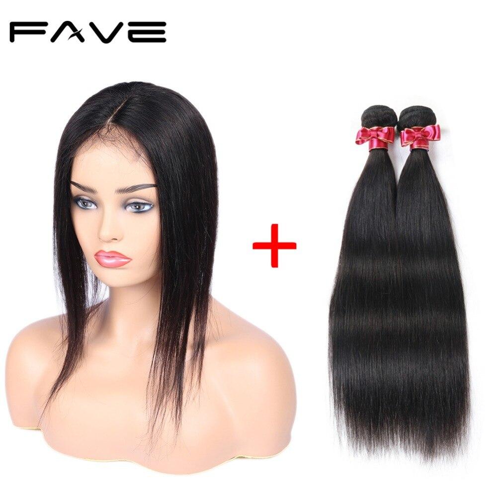 Straight Human Hair Wig Bundles With 4 4 Lace Closure Cap New Design 100 Human Hair