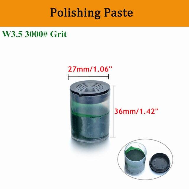 De Metal verde pasta de pulir de óxido de cromo W3.5 3000 # grano abrasivo de Pasta abrasiva para pulir rueda eléctrica amoladora