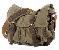 Мужчины винтажном стиле холст сумка от школы военная сумка , пригодный для 17 дюймов ноутбук большой размер