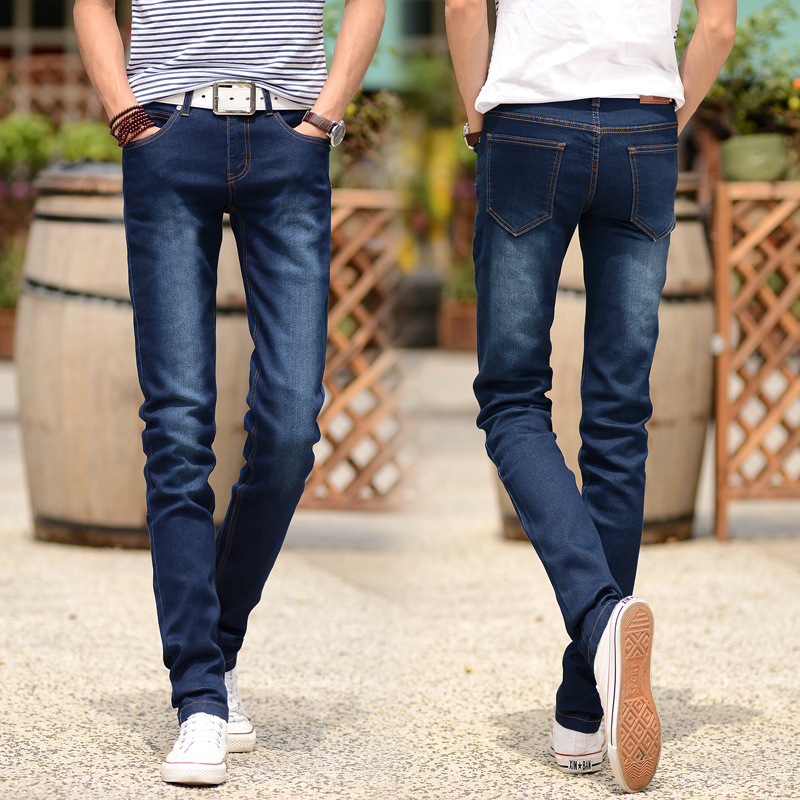 2018 feet of cultivate one's morality pants men's   jeans   trousers of youth fashion