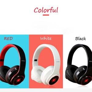 Image 2 - Earphone bluetooth 4.1 wireless HIFI  Seven color LED over ear headset waterproof with microphone headphones auricolari headset