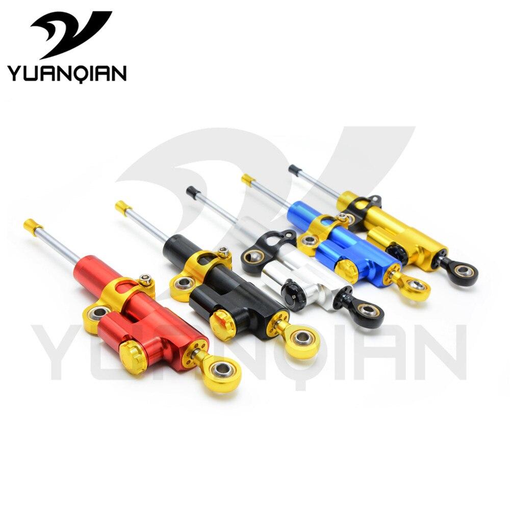 5 цветов универсальный Для большинства мотоциклов высокое качество алюминия с ЧПУ рулевой демпфер Стабилизатор для Hyosung gt250r gt650r КТМ