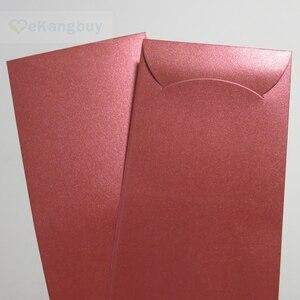 """Image 5 - 50 قطعة 172x90 مللي متر (3.7 """"x 3.5"""") الذاتي ختم المغلف الأحمر لامعة هدية المغلفات"""