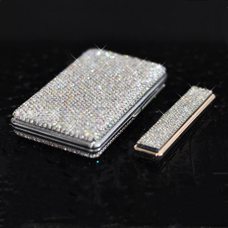 Shiny-Crystal-Diamond-Ms-20-Cigarette-Case-Charging-Windproof-Plasma-Lighter-Slim-Metal-Lightweight-Cigarette-Box-2