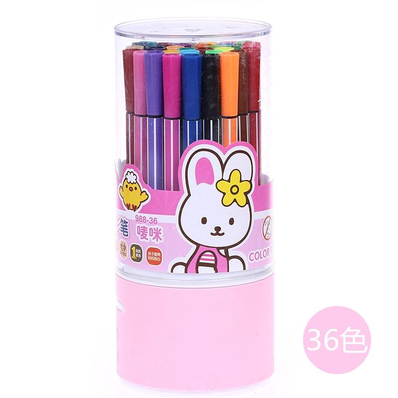 ①36 colores/set lápiz de color Fibra acuarela pluma lavable dibujo ...
