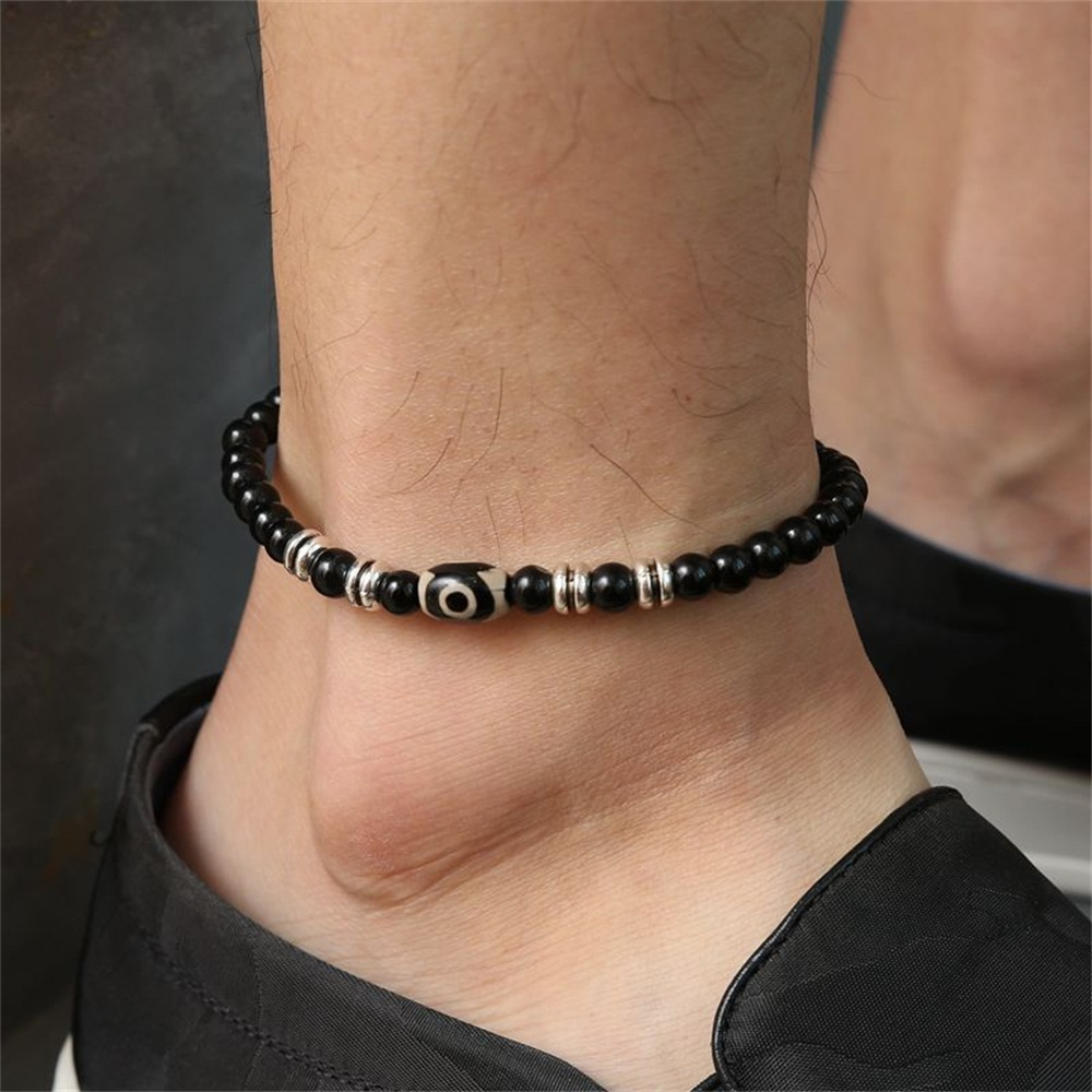 Beaded Ankle Bracelet Men Feet Jewelry Accessories Adjustable Length Lleg Bracelet Male Fashion Anklets
