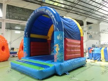 Inflatable moonwalk bounce house inflatable mini size moon bouncer