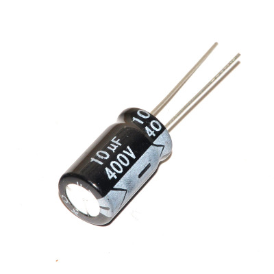High quality 10 pcs/lot Aluminum electrolytic capacitor <font><b>10uF</b></font> <font><b>400V</b></font> 10*17mm <font><b>400V</b></font> <font><b>10UF</b></font> Electrolytic capacitor ic... image