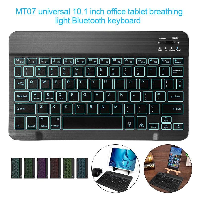 10.1in Backlit Bluetooth Keyboard Ultra Light Slim 7 Colors Keyboard For Tablet Laptop EM88