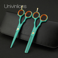 5 5 Japan Professional Hair Scissors Set Hairdressing Barber Salon Tesoura Thinning Shears Cutting Tool Stainless