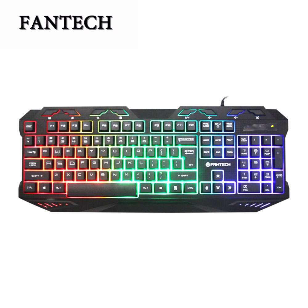 FANTECH K10 Gaming Professional Keyboard Switches Metal Wired USB Game Keyboard 112 Key Plug and Play For Pro PC Gamer ...