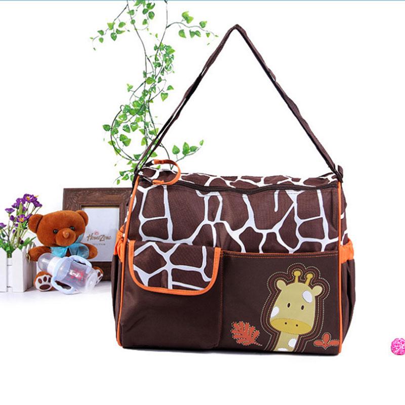 Waterproof Baby Diaper Bag Giraffe Mother Maternity Bag Messenger Nappy Changing Bag For Baby Travel Big Capacity Mummy Bag