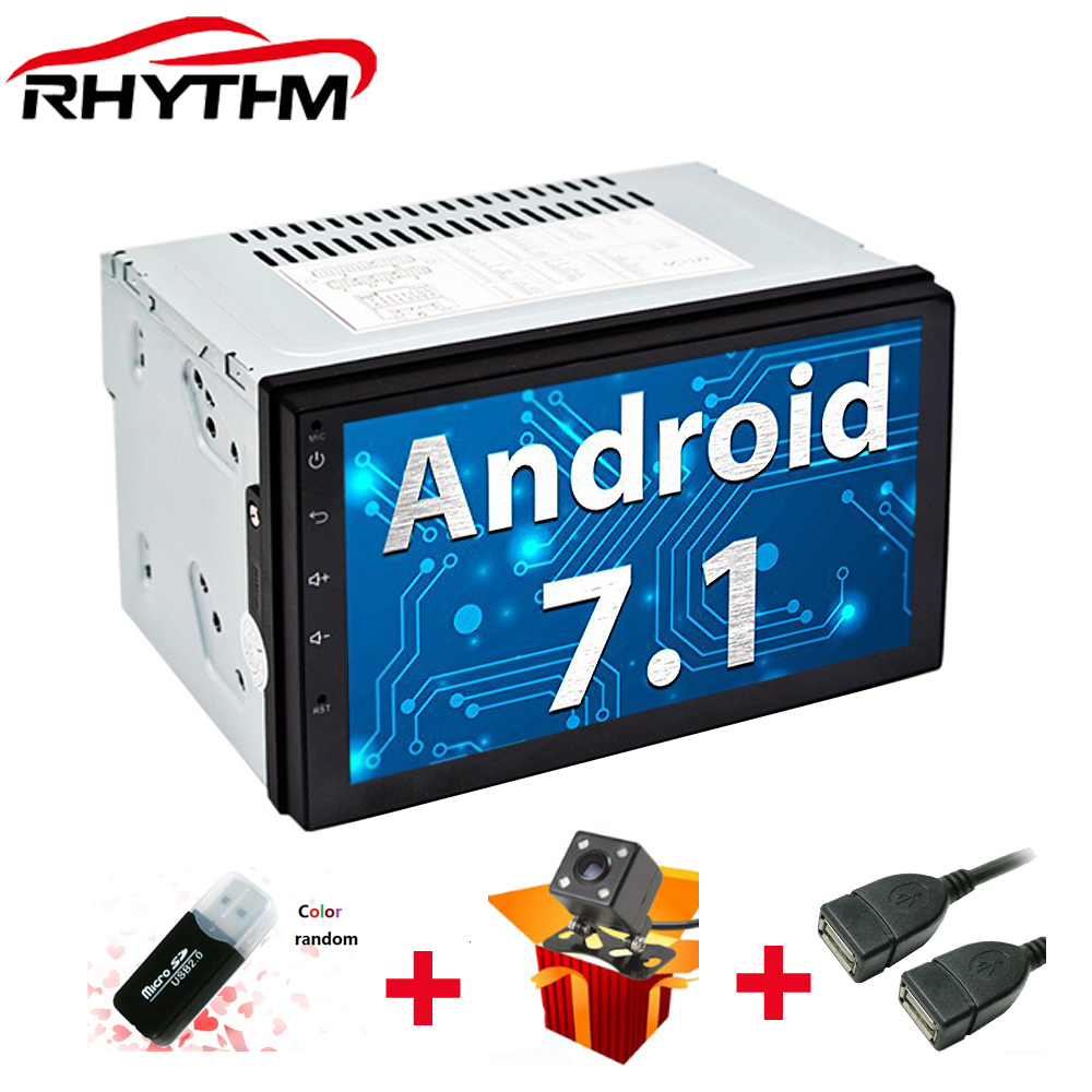 NEW 2 din android 7.1 car radio auto bluetooth GPS Navigation wifi double din multimedia system universal support dab