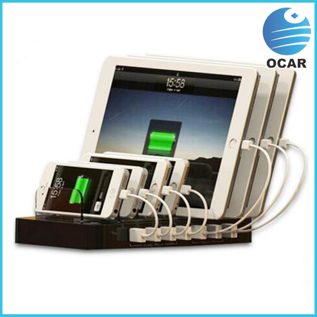 7 Port USB Fast Charging Station AC100 240V Multiple USB Charger For Mobile  Phone And