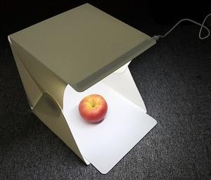 Image 2 - Cadisoポータブル折りたたみストリップボックスミニledスタジオフォトボックスソフトボックスled写真スタジオテントキット