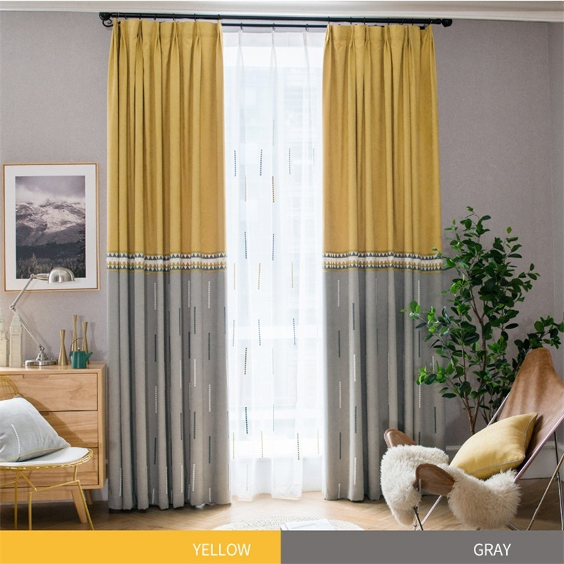 Modern High Grade Embroidery Blackout Curtains For Living Room Bedroom Kid's Room White Tulle Curtain Nordic Home Decor Wp002#4