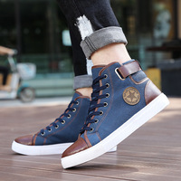 New Arrive Men Causal Shoes Autumn Winter Front Lace Up Leather Ankle Boots Shoes Man Casual