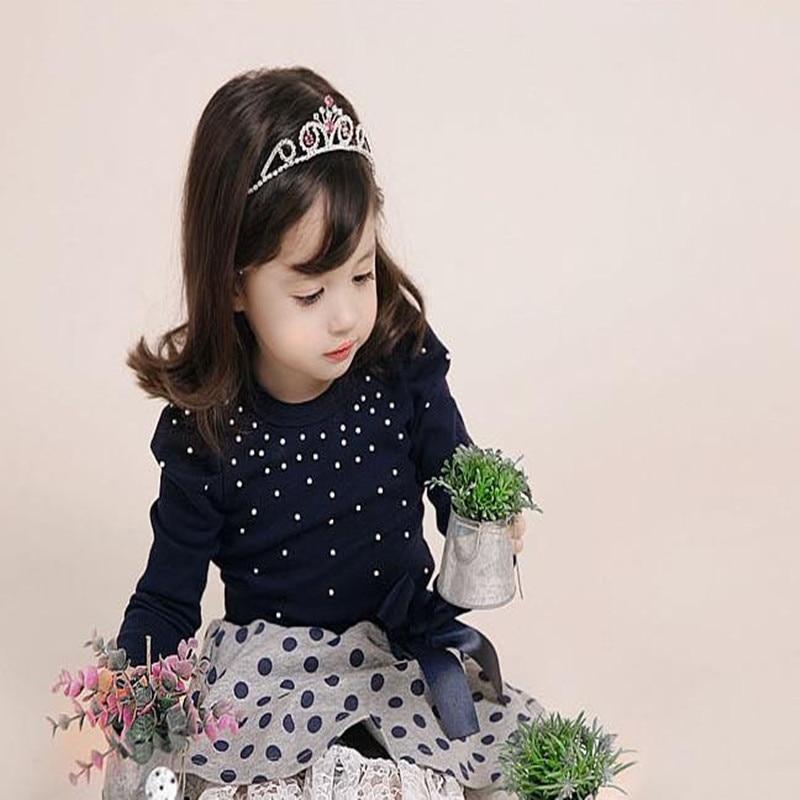 2018 Wiosna Nowe produkty Zestawy dla małych dziewczynek T-shirt + - Ubrania dziecięce - Zdjęcie 2