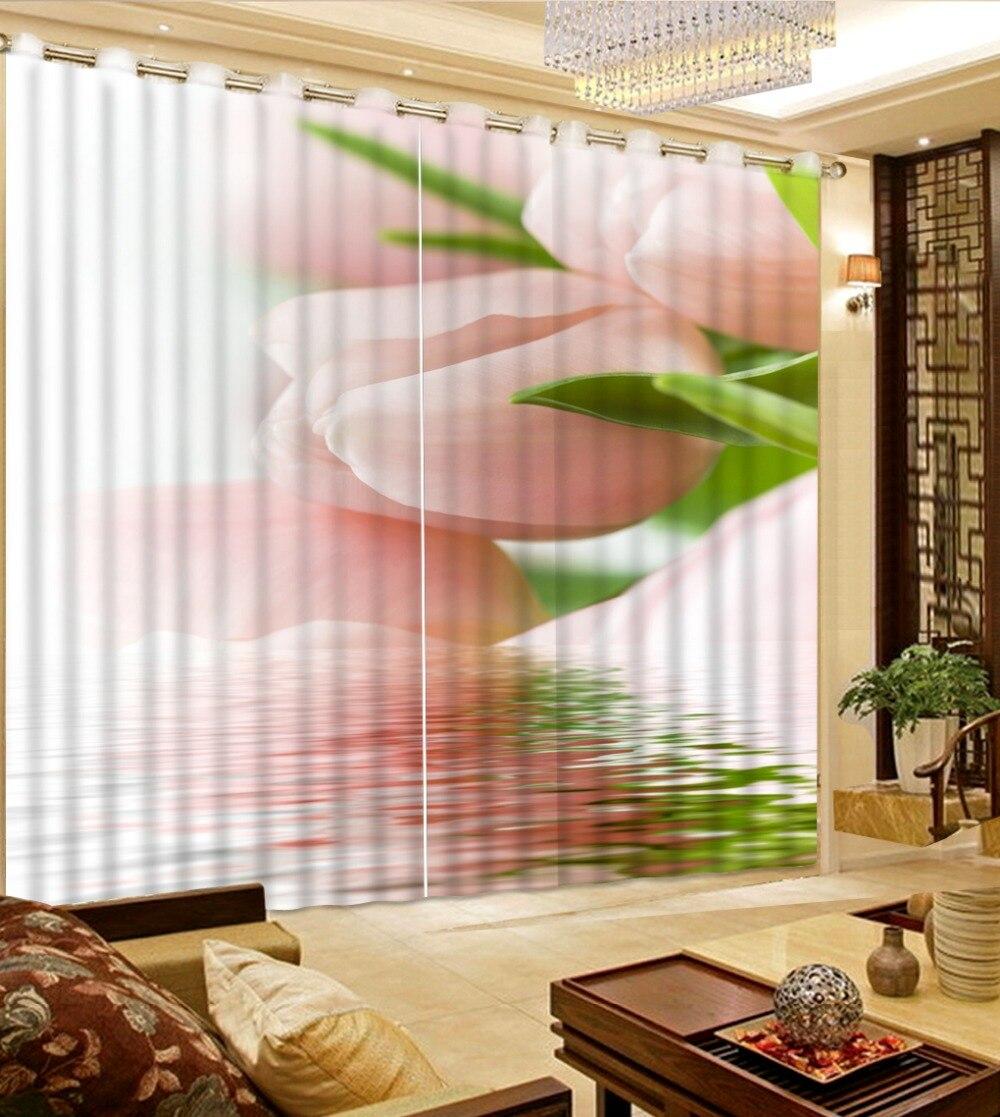 Фото Настроить размер цветок занавес ткани свежий цветок лилии пользовательские шторы шторы для гостиной