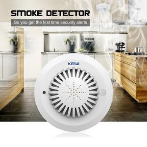 Image 4 - 音声プロンプトワイヤレス煙火災探知センサーローバッテリーが思い出さ高感度煙警報ホームの Gsm 警報システム