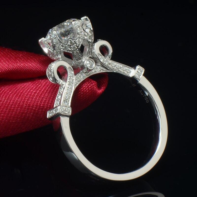 925 šterlinků stříbrné snubní prsteny šperky dámské velké kolo Cubic Zircon milostný prsten pro ženy, duté korunky, módní šperky
